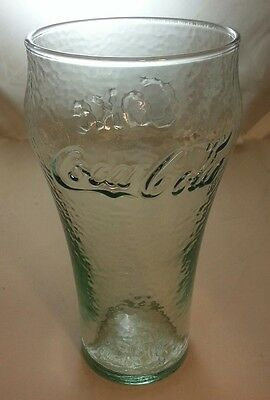 LOT 3 COKE COCA COLA Pebble Texture Green Fountain Soda Restaurant Bar Glasses