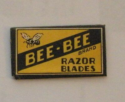 Vintage DE Made in USA Razor Blade BEE-BEE Bumblebee? One Wrapped Blade RARE
