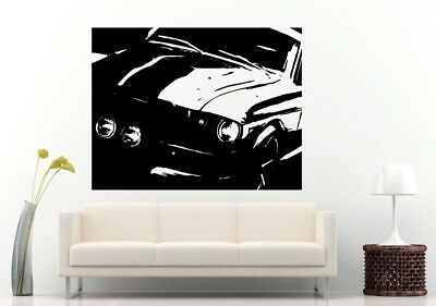 Wall Room Decal Vinyl Sticker American Muscle Old Antique Classic Sport Car L704