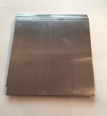 "4 Pieces - 1/8"" (.125) Aluminum Sheet Drops 11.5"" x 11.5"" - DIY Sample Plates"