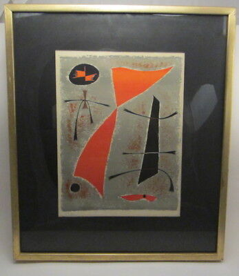 Mid-century French Abstract Original Lithograph by Gustav Singier