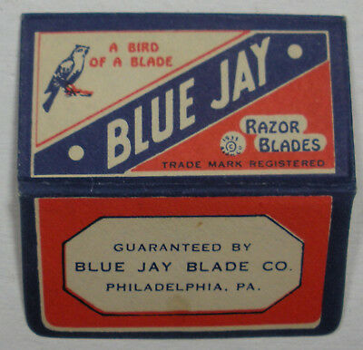 Vintage DE Made in USA Razor Blade BLUE JAY One Wrapped Blade - Seldon Seen