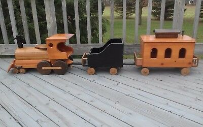 Large 6' Wood Ride-On Train/Toy Box - Handcrafted by Barrels of Fun - CA - RARE