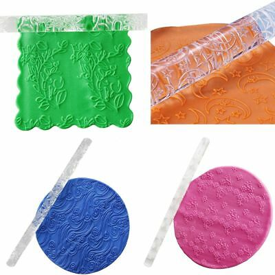 21 Styles Acrylic Fondant Cake Impression Rolling Pin Pastry Roller Baking Tools