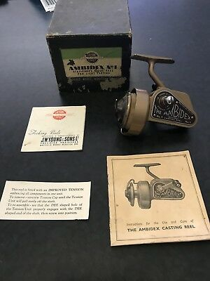 Vintage Fishing Reel- Vintage JW Young Ambidextrous Casting Reel In Original Box