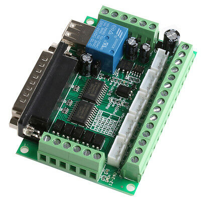 1PC 5 Axis CNC Breakout Board For Stepper Driver Controller Mach3 Power Module