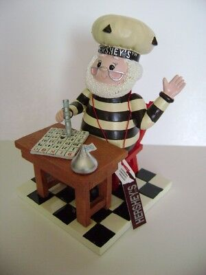 """Hershey's Elf Playing Bingo Collectable Figurine 2004 5"""" Inches Tall"""