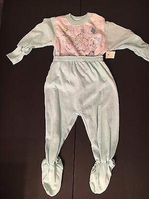 NWT Vintage Cuddle time  Adorable green two piece sleepwear size 12 months