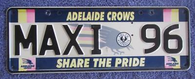 Adelaide Crows Custom License Number Plate # Maxi*96