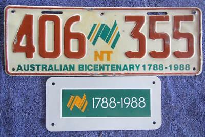 Nt Bicentennial Plus License Number Plate # 406-355