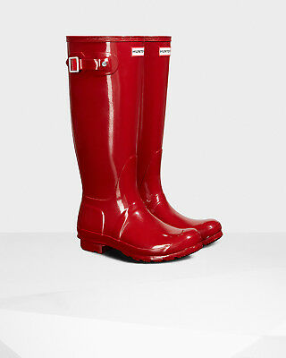Hunter Original Gloss Tall Rain Boots. Genuine. Authentic. Red Gloss.