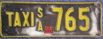 Taxi Sa License Number Plate Taxi 765