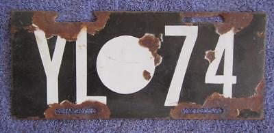 1921-45 Yilgarn License Number Plate # Yl.74