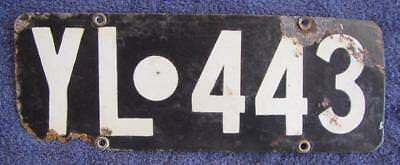Yilgarn License Number Plate # Yl.443