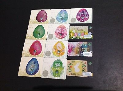 CANADA STARBUCKS EASTER  GiFT CARD  -- LOT OF 12 PCS. ----- NEW
