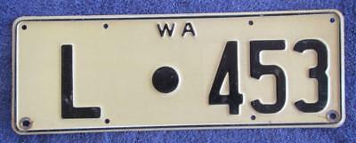 Leonora Shire License Number Plate # L.453