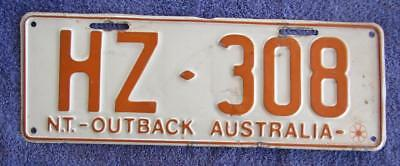 Holden Enthusiast License Number Plate # Hz-308