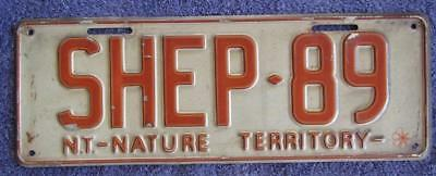 Nature Territory Nt License Number Plate # Shep-89