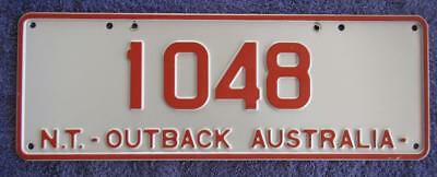 Outback Remake Nt License Number Plate # 1048