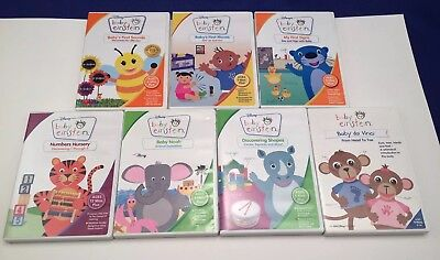 Baby Einstein Dvd Lot 7 Euc Baby S First Moves Sounds Baby Noah