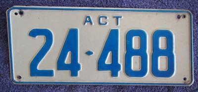 5 Digit Act License Number Plate # 24-488