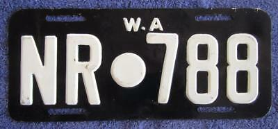 Northampton Shire License Number Plate # Nr.788