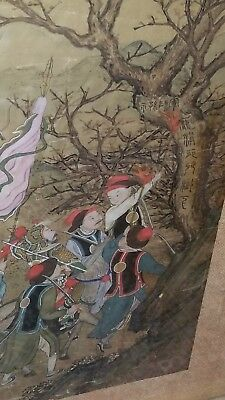 Very Early Fine Antique Silk Chinese Painting Estate Piece Important? Imperial?