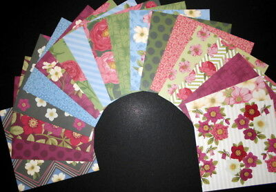 """WINTER GARDEN""   Scrapbooking/Cardmaking Papers X 18 - 15cm x 15cm (6"" x 6"")"