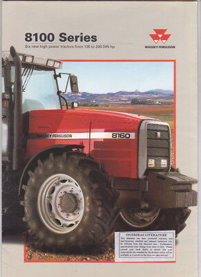 1995 MASSEY FERGUSON 8100 SERIES Tractor 16p Brochure Opens out to Huge Poster