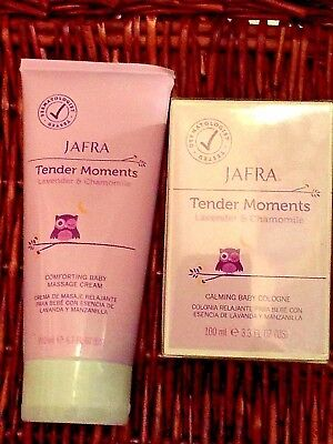 Jafra Tender Moments Lavender Calming Cologne 3.3oz & Comforting Cream 6.7oz