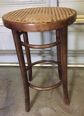 Antique Bentwood And Cane Stool