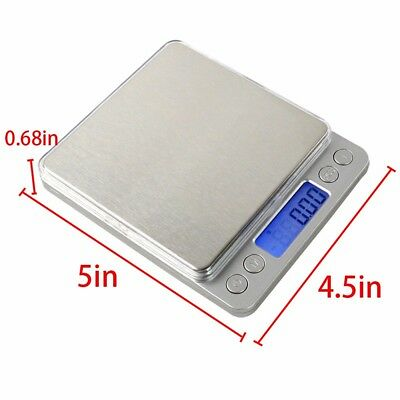 500g/0.01 Kitchen Digital Scale LCD Electronic Balance Food Weight Postal Scales