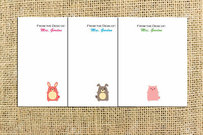Personalized Notepads With Name Small Notepad Custom Cute Teacher Note Pad