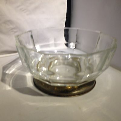 Vintage Facated Glass Serving Bowl, Decorative Trifle Bowl 4 Desserts Or Display