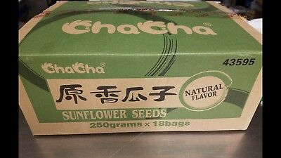 ChaCha Sunflower Seeds Natural Flavor 250g X 18bags