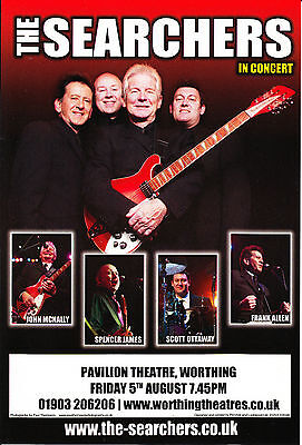 Searchers 'IN CONCERT' Pavilion Theatre, Worthing August 2011 A5 Flyer New