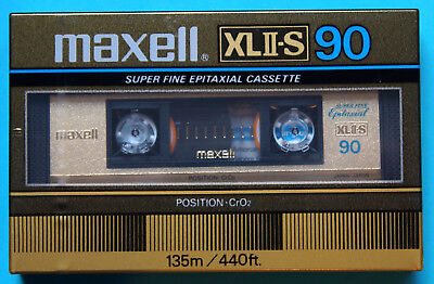 1x MAXELL XL II-S 90 Cassette Tape 1982 + OVP + SEALED +