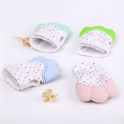 Silicone Baby Mitt Teething Mitten Teething Glove Candy Wrapper Sound Teether BG