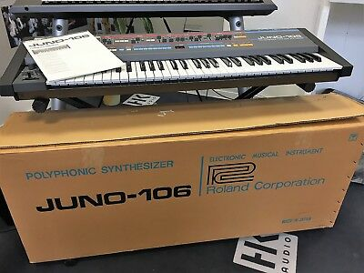 ROLAND JUNO 106 analog Synthesizer, Top Zustand, Kult-Synth!!!