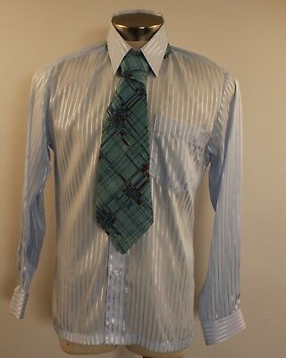 New Large Original Vintage Mens  Shirt & Tie.