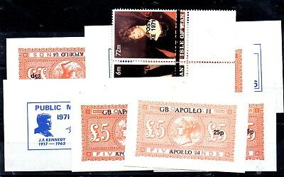 Stamps And Labels From The Great Britain,postal Strike 1971,,