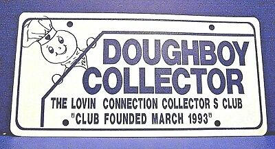 1993 Pillsbury Doughboy Collector License Plate - Lovin Connection Club Sign