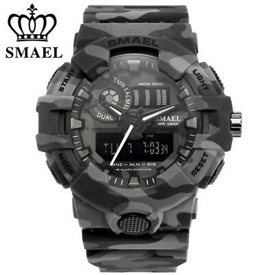 SMAEL Men Outdoor Sport Watches LED Digital Wristwatches Chronograph Male Watch