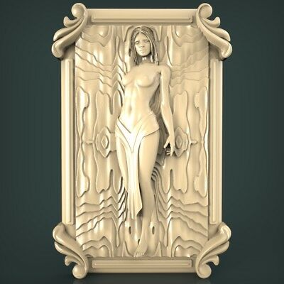 (1038) STL Model Girl for CNC Router 3D Printer Artcam Aspire Bas Relief