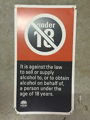 Under 18 Alcohol Pub Sign - Man Cave Home Brew