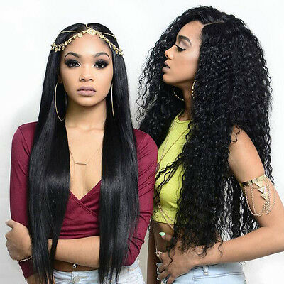 32inch Heat Resistant Full Hair Wig Curly/Straight Glueless Lace Front Wig 150%