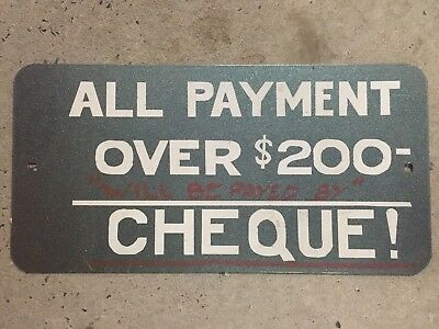 Payment Made In Cheque Alcohol Pub Sign - Man Cave Home Brew