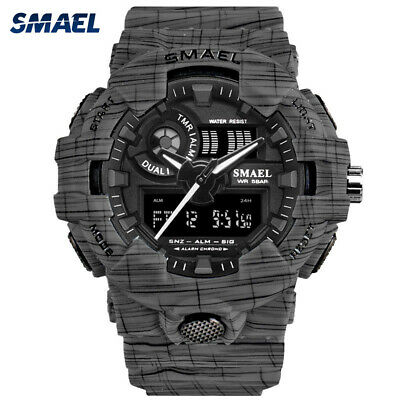 SMAEL Sport Watch Men Digital LED Electronic Watches Rubber Quartz Wristwatches