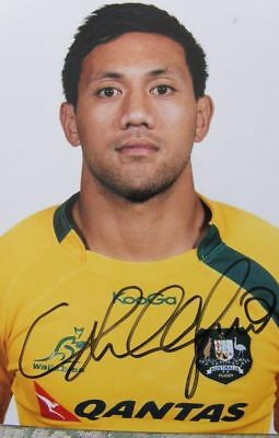 "Christian Lealiifano - Australia Rugby Union - Signed 6"" x 4"" Photo World Cup"