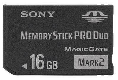 Mark2 Memory Stick MS Pro Duo Memory Card for Sony 16GB PSP and Cybershot Camera
